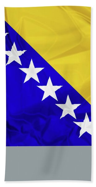 Flag Of Bosnia Bath Towel