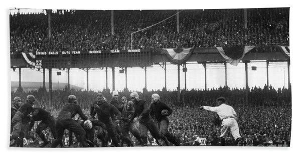 Football Game, 1925 Bath Towel