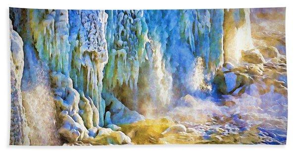 Frozen Waterfall Hand Towel