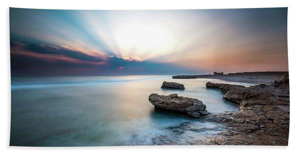 Good Morning Red Sea Bath Towel