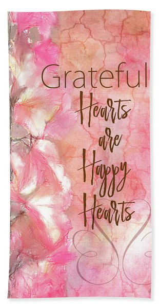 Grateful Hearts Bath Towel