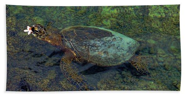 Hawaiian Sea Turtle Bath Towel