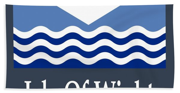 Isle Of Wight, England Flag And Name Hand Towel