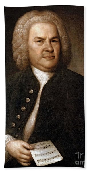 Johann Sebastian Bach, German Baroque Bath Towel