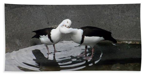 Kissing Ducks Bath Towel
