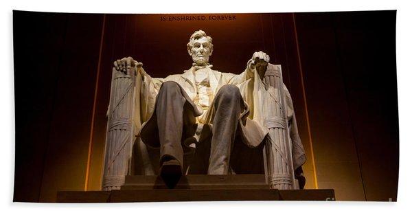 Lincoln Memorial At Night - Washington D.c. Hand Towel
