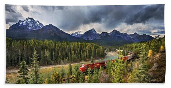 Long Train Running Bath Towel