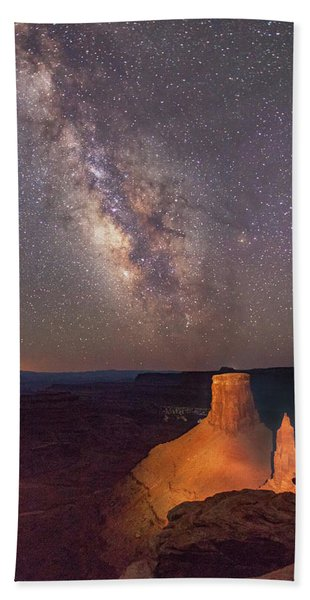 Milky Way At Marlboro Point Hand Towel