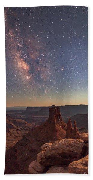 Milky Way At Twilight - Marlboro Point Bath Towel