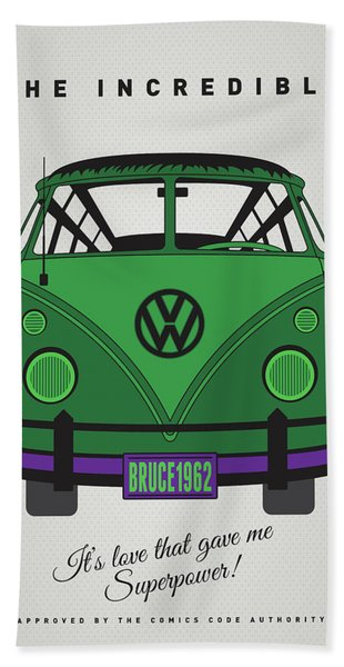 My Superhero-vw-t1-hulk Bath Towel