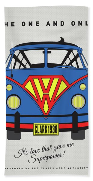 My Superhero-vw-t1-superman Bath Towel