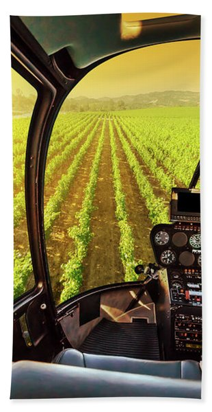 Napa Valley Scenic Flight Bath Towel