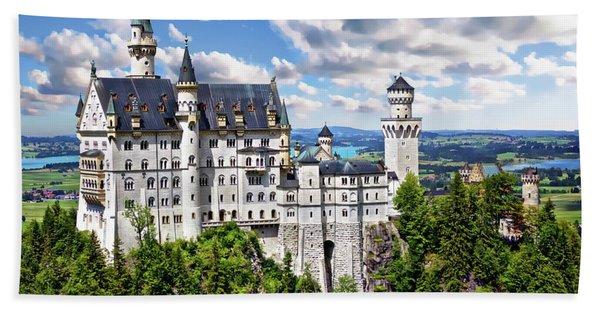 Neuschwanstein Castle Hand Towel