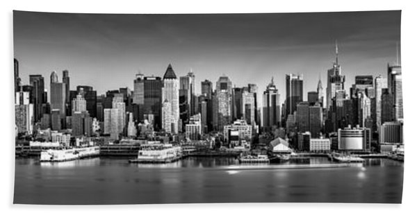 Hand Towel featuring the photograph New York City Panorama by Mihai Andritoiu