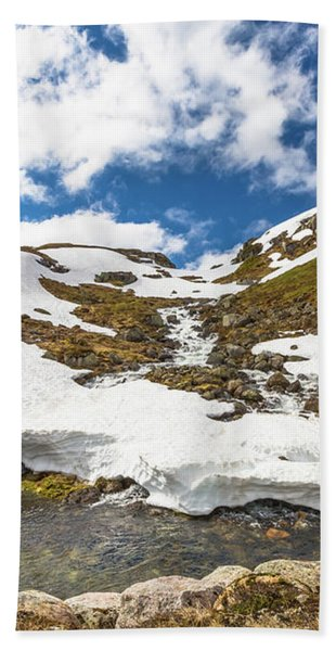 Norway Mountain Landscape Bath Towel