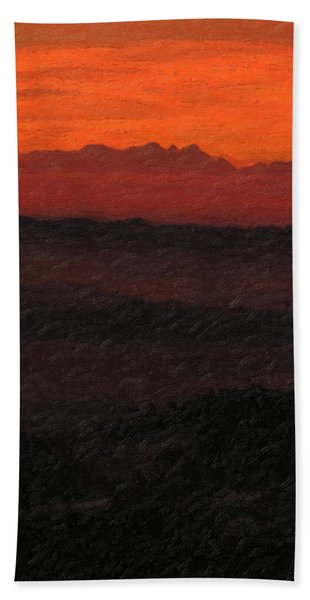 Not Quite Rothko - Blood Red Skies Bath Towel