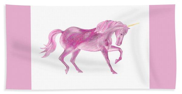 Pink Unicorn Bath Towel