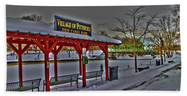 Pittsford Canal Park Hand Towel