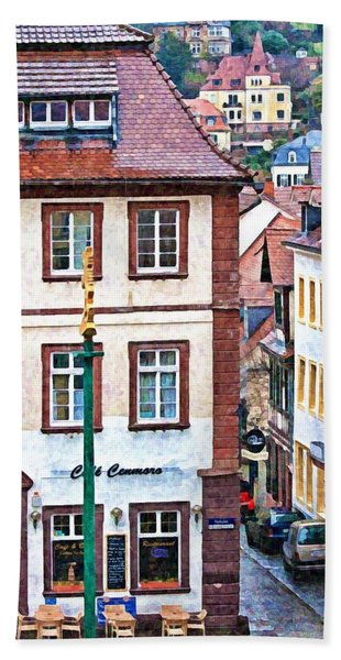 Rainy Day In Heidelberg Hand Towel