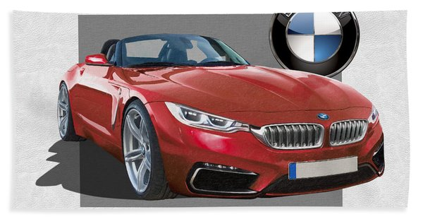 Red 2018 B M W  Z 5 With 3 D Badge  Bath Towel