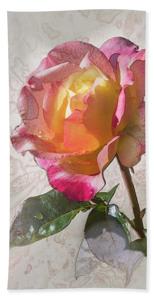 Rosa, 'glowing Peace' Hand Towel