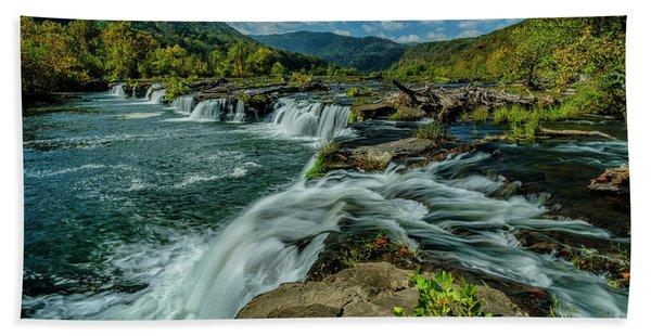 Sandstone Falls New River Bath Towel
