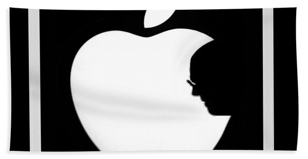 Steve Jobs Apple Bath Towel
