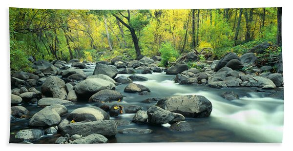 Stream In Cottonwood Canyon, Sedona Hand Towel