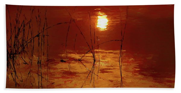Sunset On The Bay Bath Towel