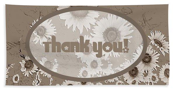 Thank You Card Daisies Bath Towel