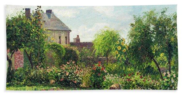 The Artist's Garden At Eragny Bath Towel