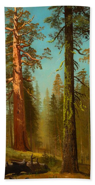 The Grizzly Giant Sequoia - Mariposa Grove California Bath Towel