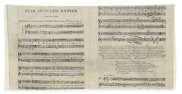The Star Spangled Banner Hand Towel