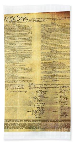 U.s Constitution Bath Towel