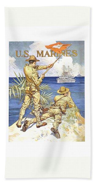 Us Marines - Ww1 Hand Towel