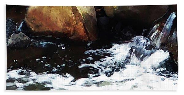 Waterfall Abstract Bath Towel