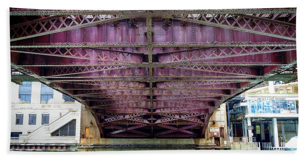 1136 Under The Dearborn Street Bridge Hand Towel
