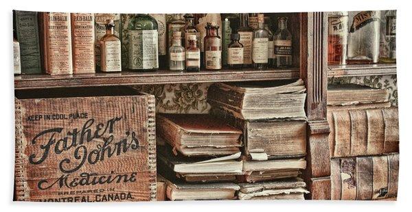 18th Century Pharmacy Bath Towel