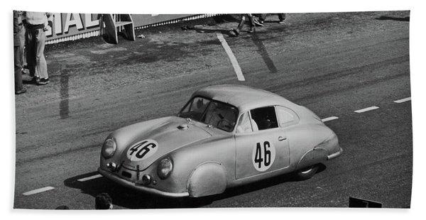 1951 Porsche Winning At Le Mans  Bath Towel