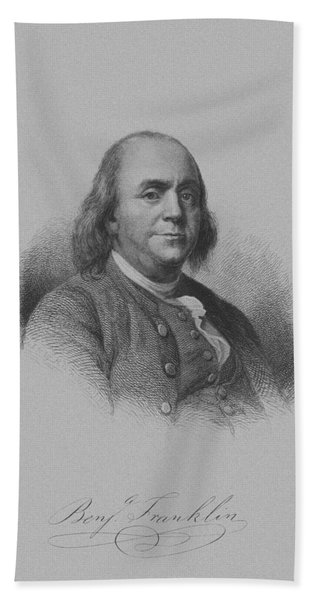 Benjamin Franklin Bath Towel