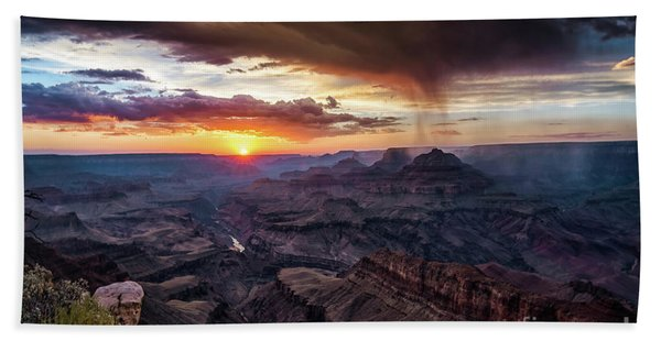 Grand Canyon Monsoon Sunset Hand Towel