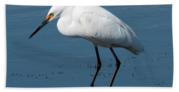 Snowy White Egret Bath Towel