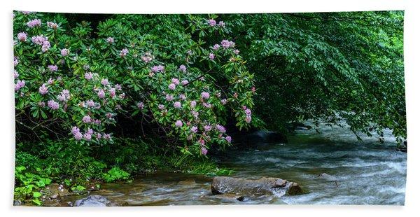 Summer Along Birch River Bath Towel