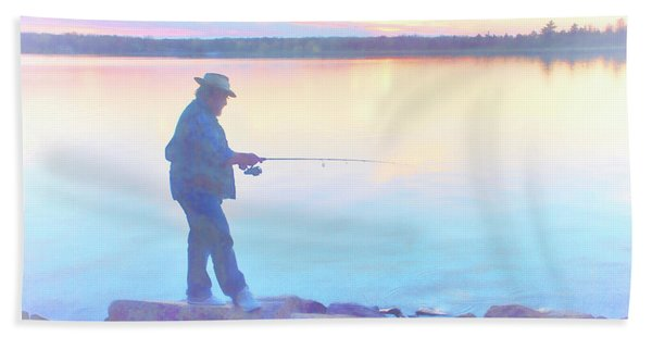 Sunrise Fisherman Bath Towel