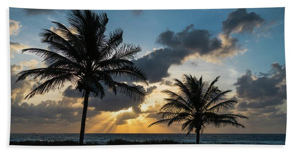 Sunrise Palms Delray Beach Florida Bath Towel