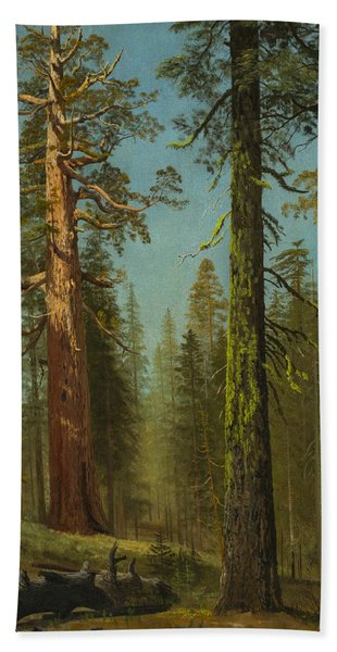 The Grizzly Giant Sequoia, Mariposa Grove, California Bath Towel