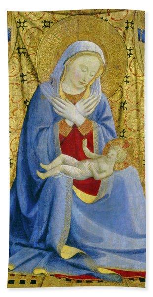 The Madonna Of Humility Bath Towel