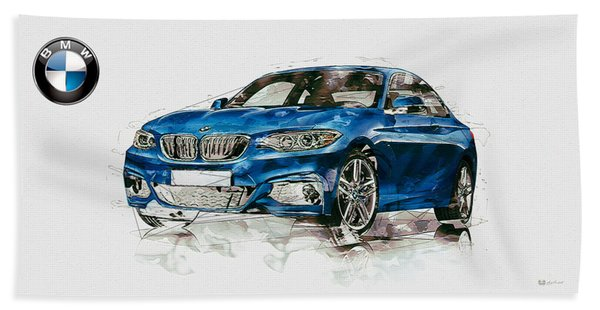 2014 B M W 2 Series Coupe With 3d Badge Bath Towel