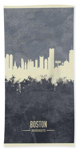 Boston Massachusetts Skyline Hand Towel
