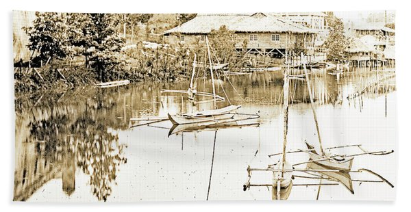 Arrow Head Lake, Philippine Village, 1904 Worlds Fair, Vintage P Bath Towel
